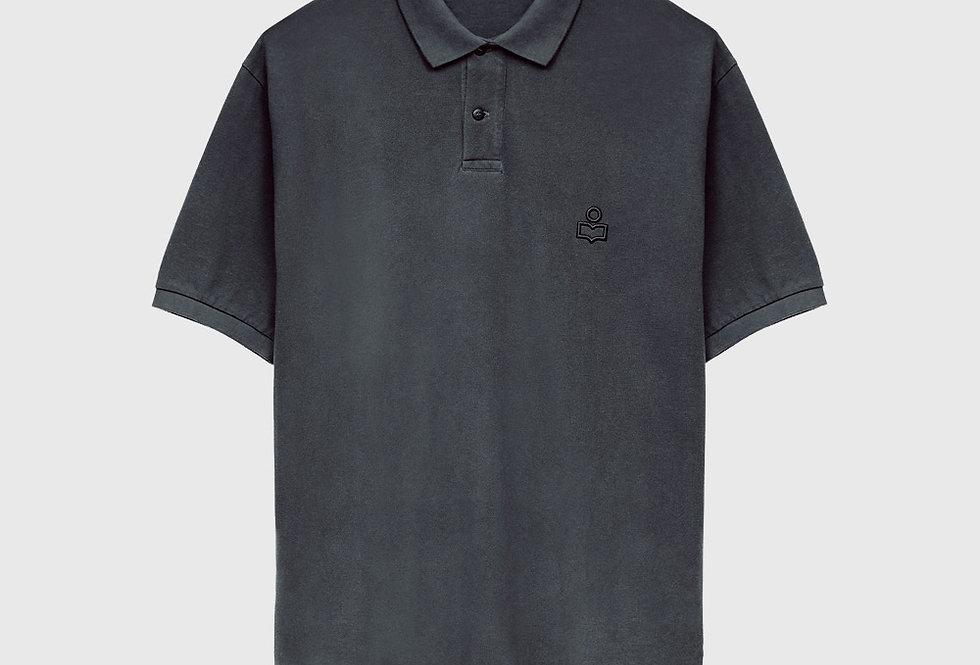 Isabel Marant Plastron Anafiko Polo Shirt Faded Night