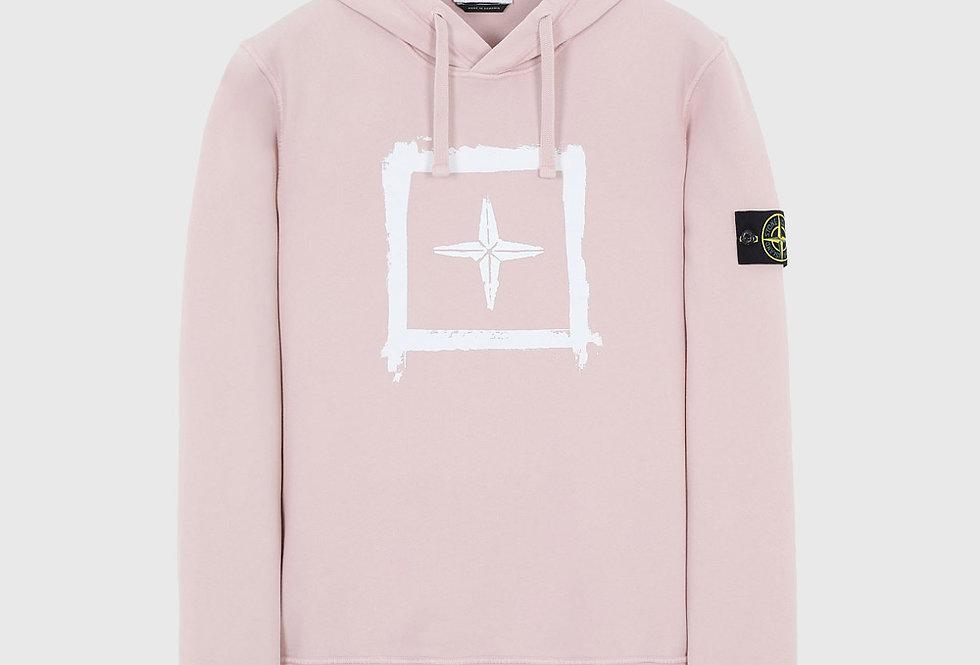 Stone Island 65894 Stencil Sweatshirt Pastel Pink