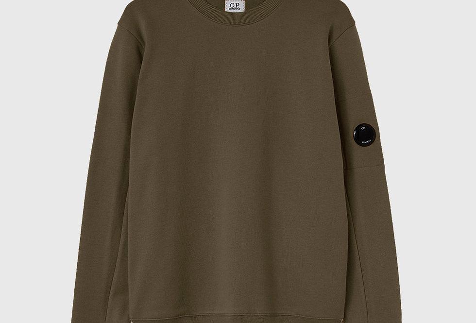 C.P. Company Diagonal Raised Fleece Sweatshirt Green