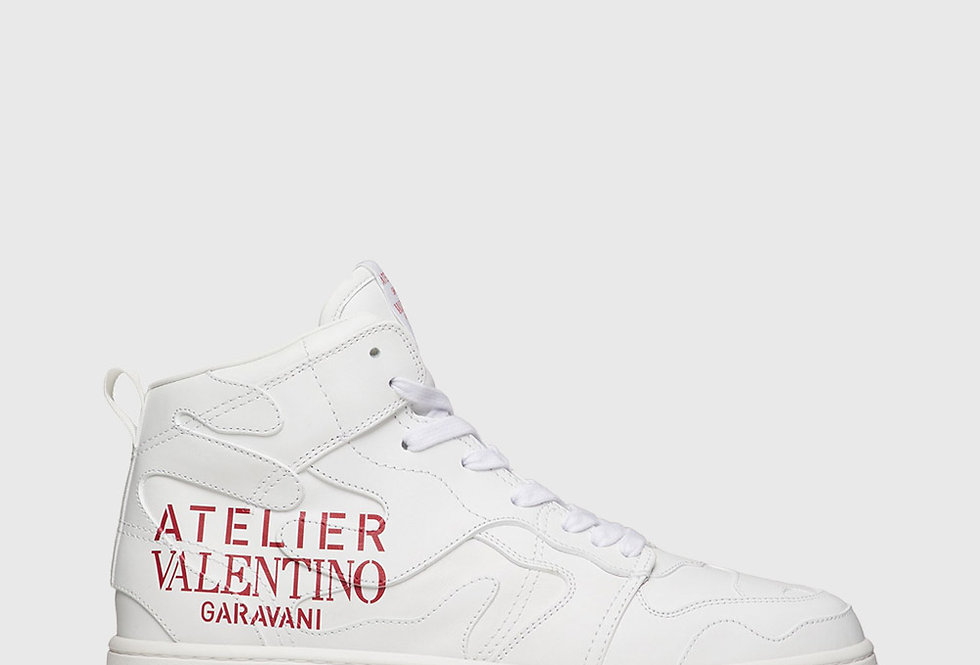 Valentino Atelier Sneaker 07 Camouflage Edition Mid-Top White