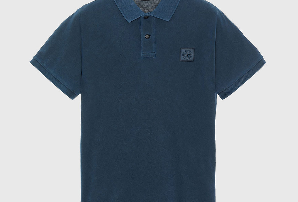 Stone Island 22S67 Pigment Dye Treatment Polo Shirt Avio Blue