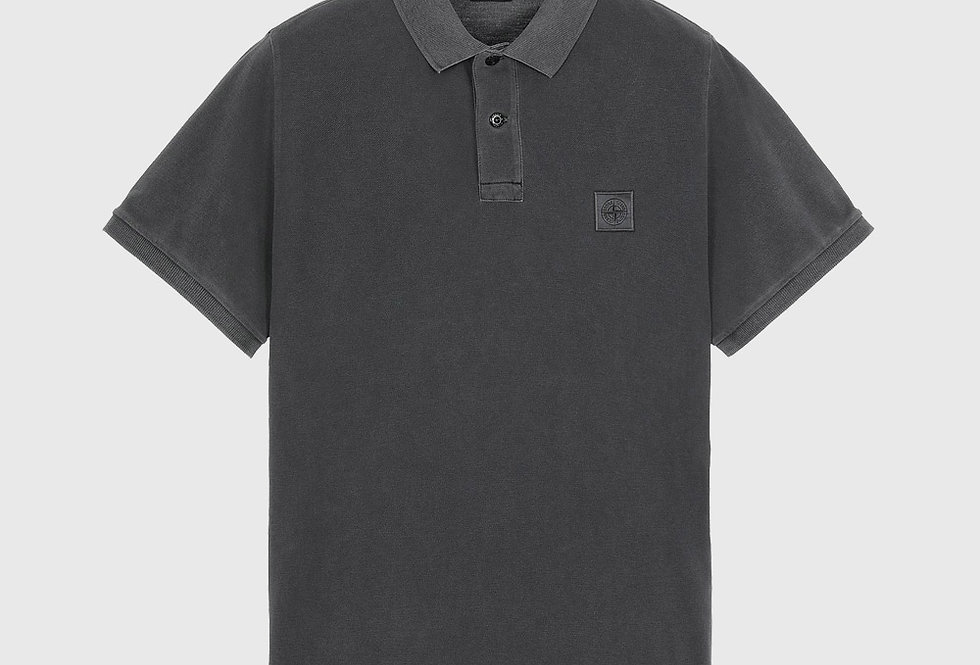 Stone Island 22S67 Pigment Dye Treatment Polo Shirt Steel Grey