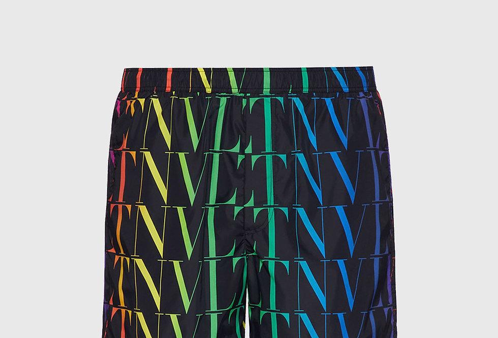 Valentino Swimming Shorts VLTN Times Black Multicolour