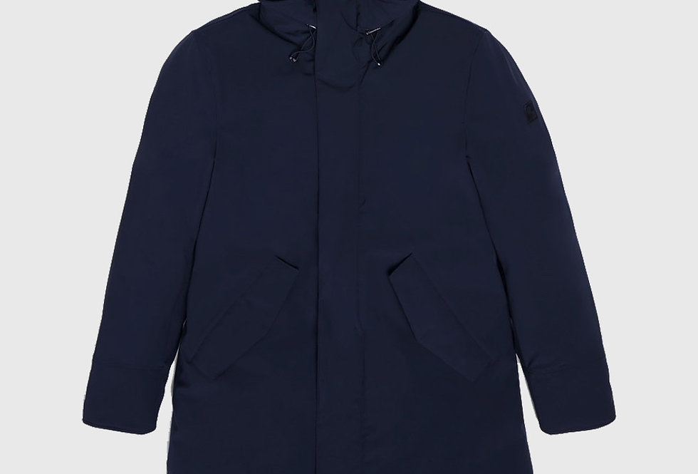 Woolrich Mountain Parka Stretch Melton Blue