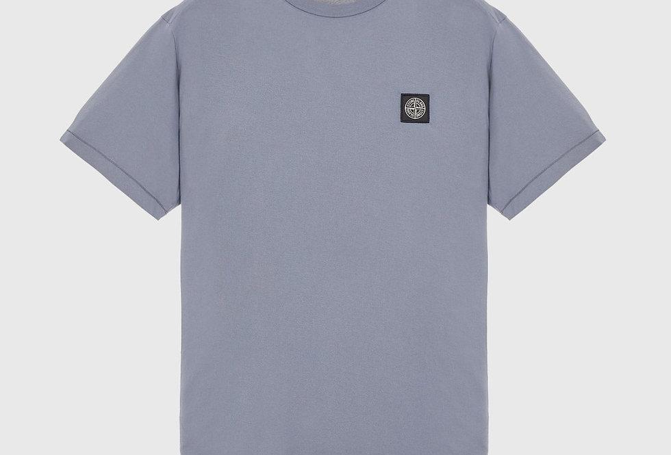 Stone Island 24113 60/2 Cotton Jersey T-Shirt Pastel Blue
