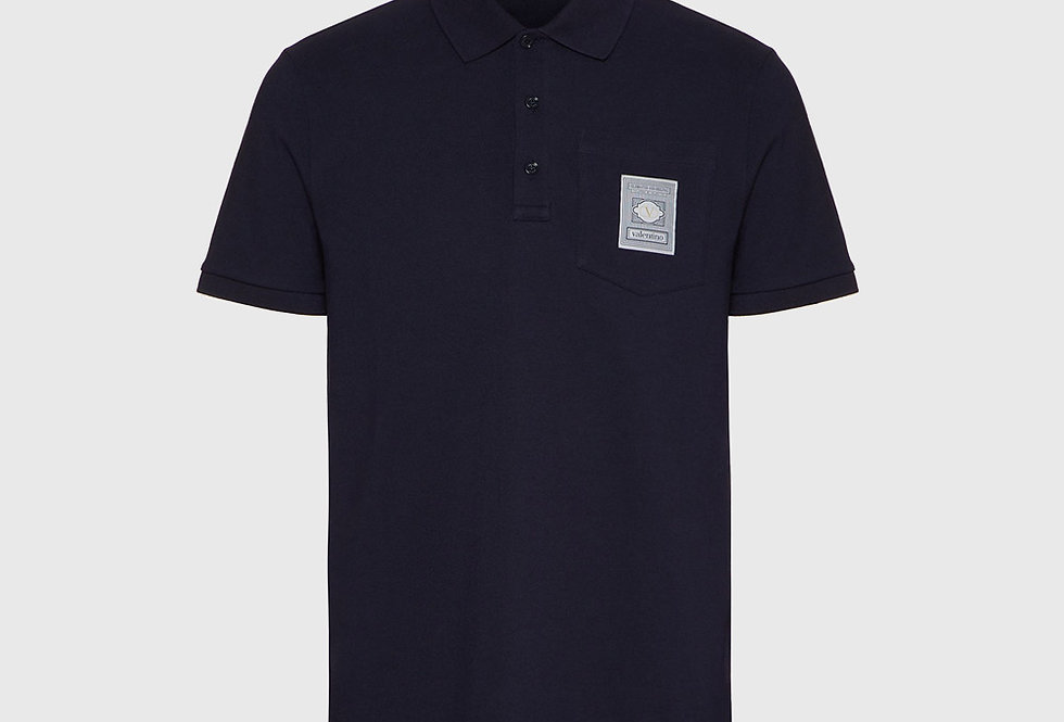 Valentino Polo VLTN Label Dark Blue