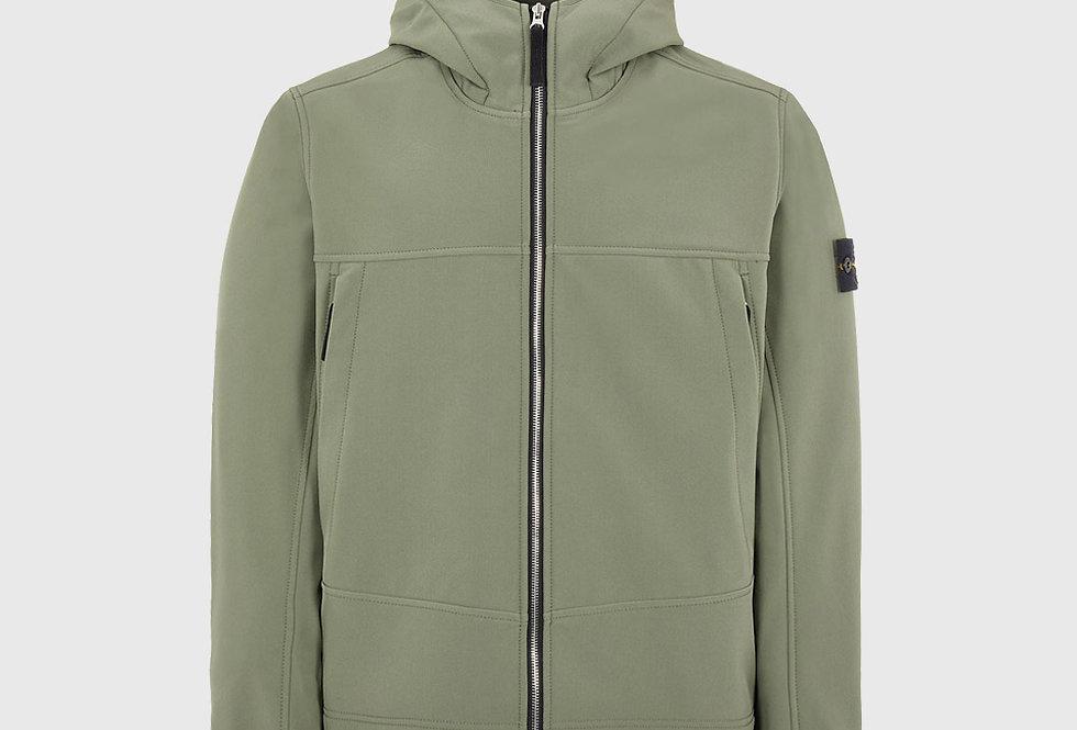 Stone Island Q0122 Soft Shell_R Lightweight Jacket Sage Green