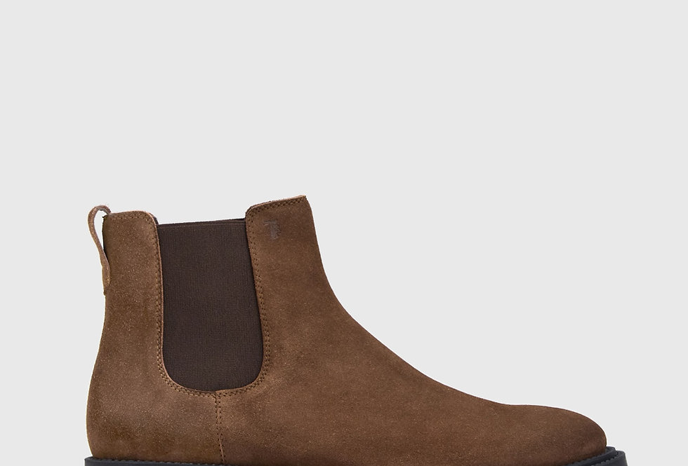 Tod's Ankle Boots Suede Brown