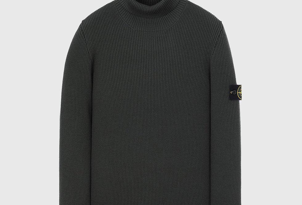 Stone Island 522C2Rib Wool Sweater Green