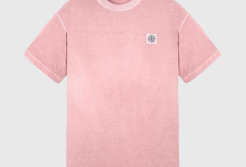 Stone Island 23757 Fissato Treatment T-shirt Pink Quartz