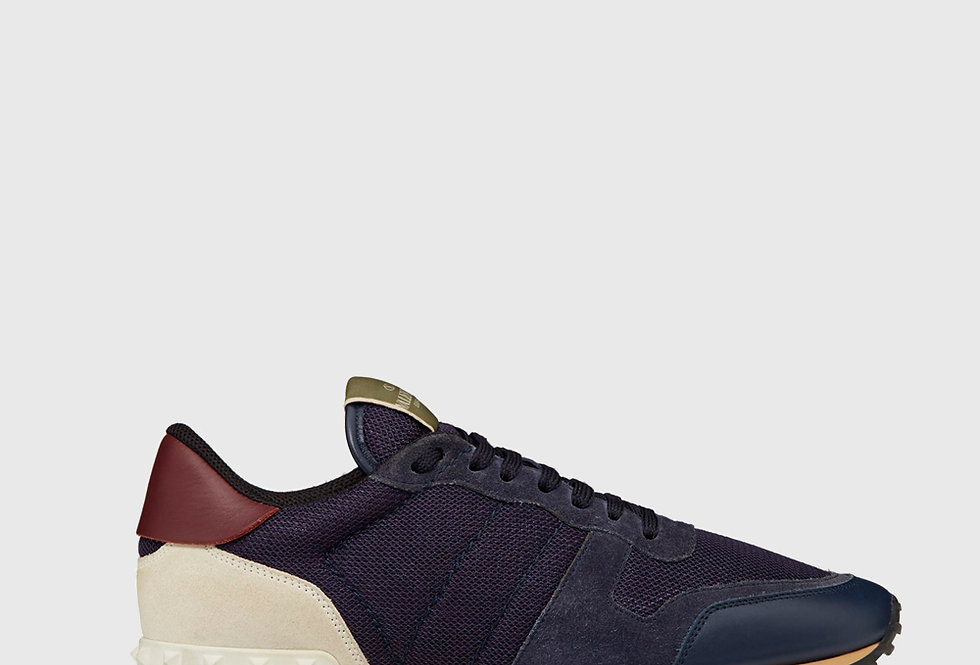 Valentino Fabric Rockrunner Sneaker Dark Blue
