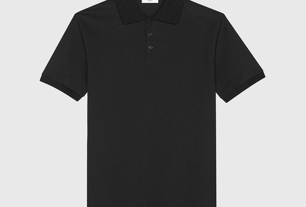 Saint Laurent Monogram Polo Shirt Black