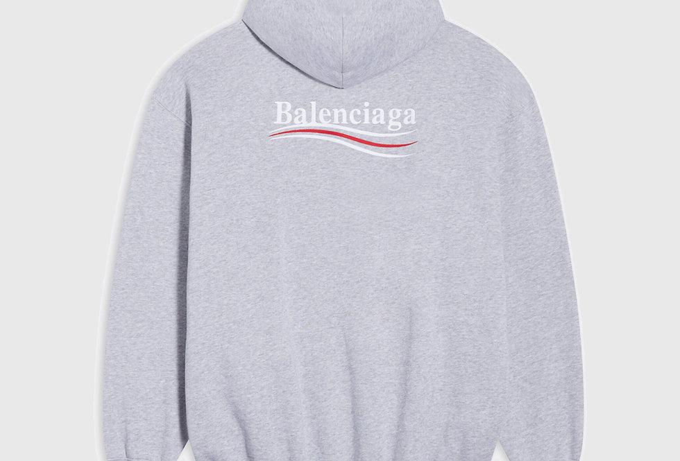 Balenciaga Political Campaign Medium Fit Hoodie Grey