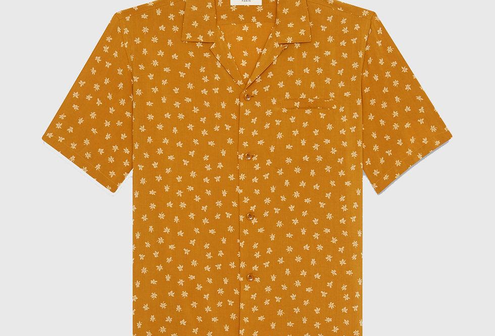 Saint Laurent Shark-Collar Shirt Wild Orchid Viscose