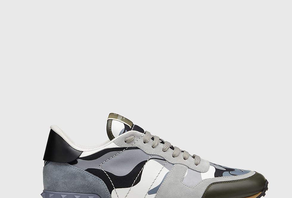 Valentino Camouflage Rockrunner Sneaker Grey