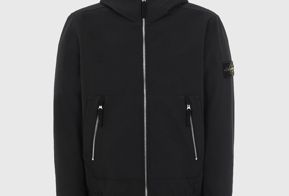 Stone Island 40727 Soft Shell-R Lightweight Jacket Black