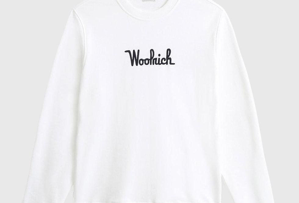 Woolrich Essential Crewneck Sweatshirt White