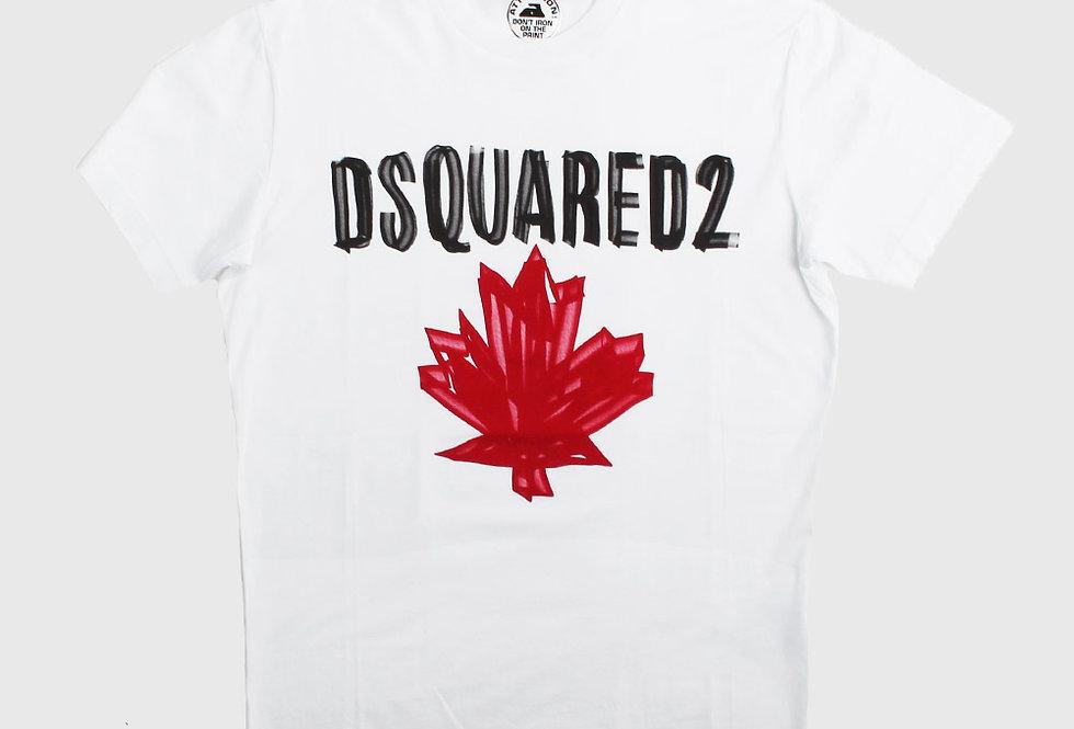 Dsquared2 Maple Leaf T-shirt White
