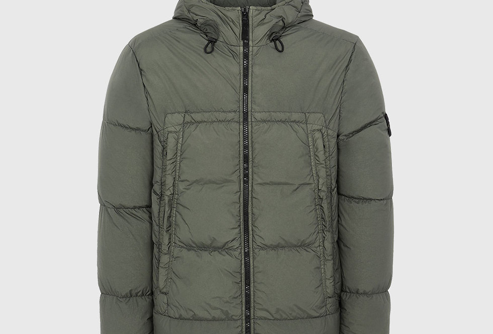 Stone Island 40723 Garment Dyed Crinkle Reps NY Down Jacket Green