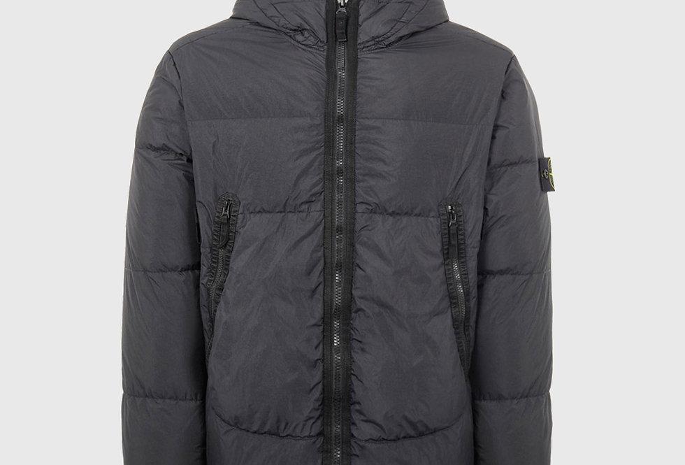 Stone Island 40123 Garment Dyed Crinkle Reps NY Down TC Jacket Black