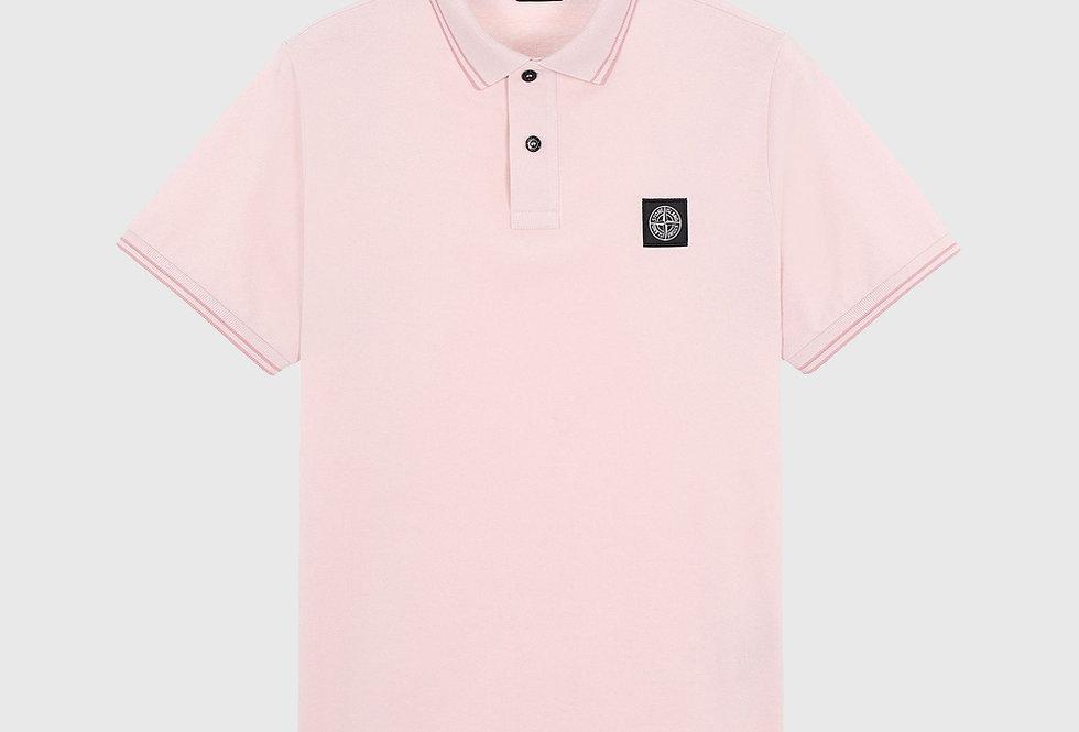 Stone Island 22S18 Stretch Pique Polo Shirt Pastel Pink