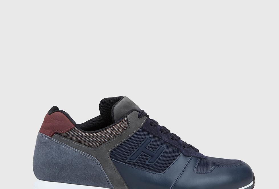 Hogan Sneakers H321 Blue Grey Burgundy