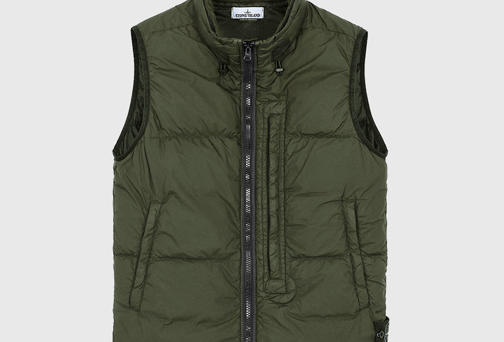 Stone Island G0123 Garment Dyed Crinkle Reps NY Down Army Green