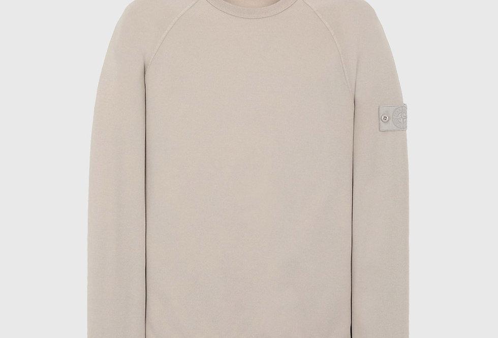 Stone Island 659F3 Ghost Piece Cotton Sweatshirt Beige