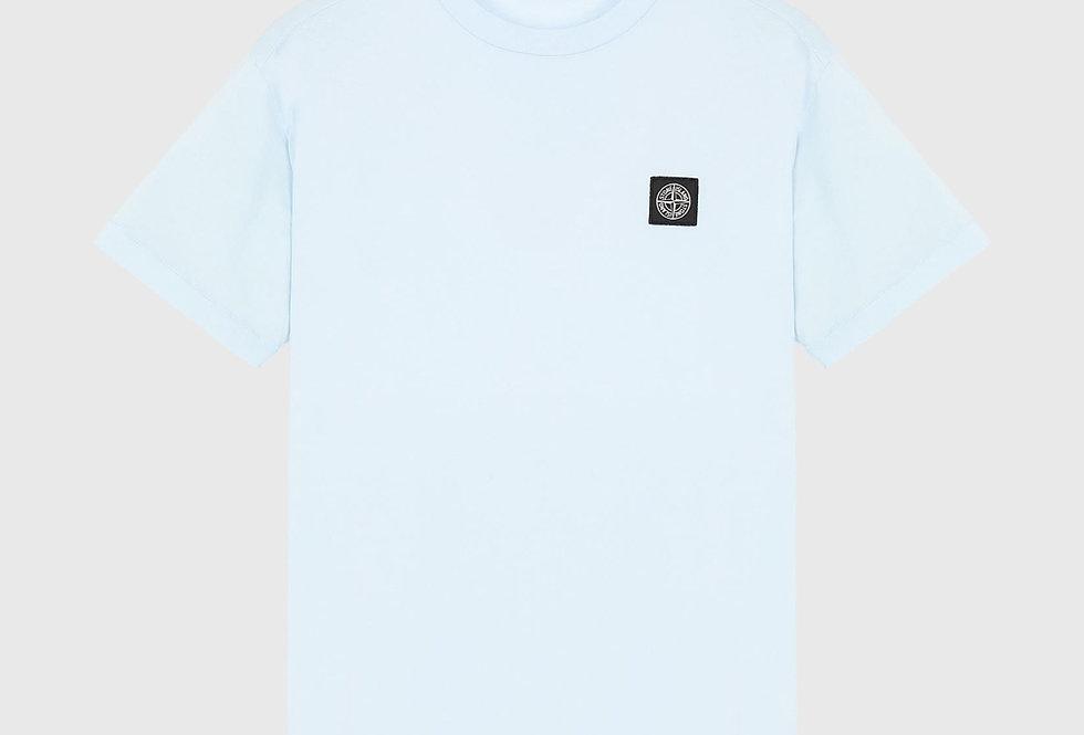 Stone Island 24113 Patch Logo T-shirt Sky Blue