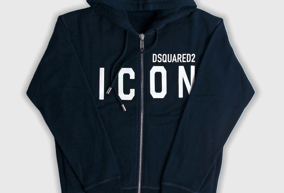 Dsquared2 Icon Zipped Hoodie Blue
