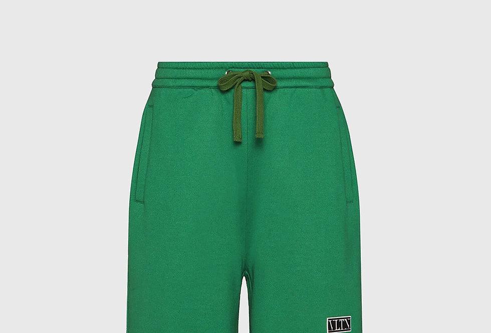 Valentino Bermuda Shorts VLTN Tag Olive Green