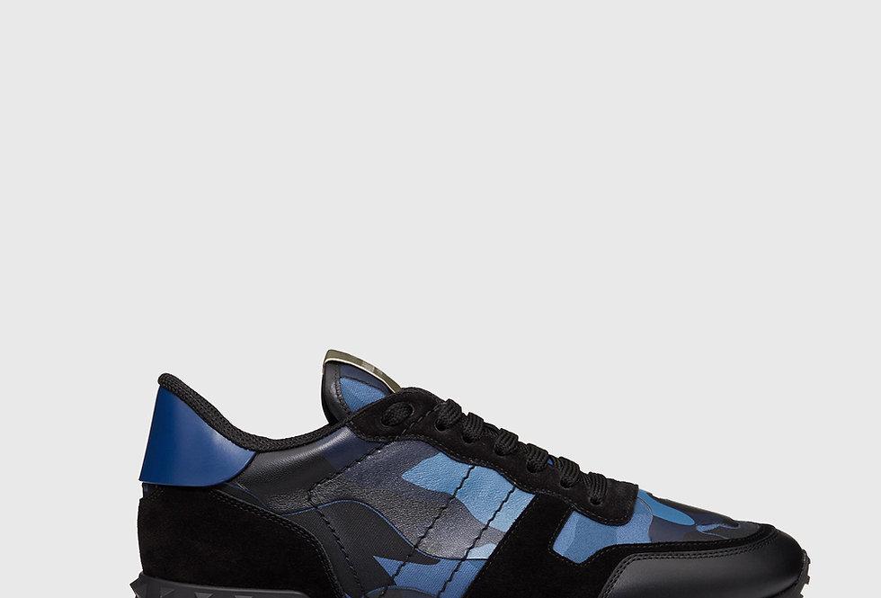 Valentino Camouflage Rockrunner Sneaker Blue