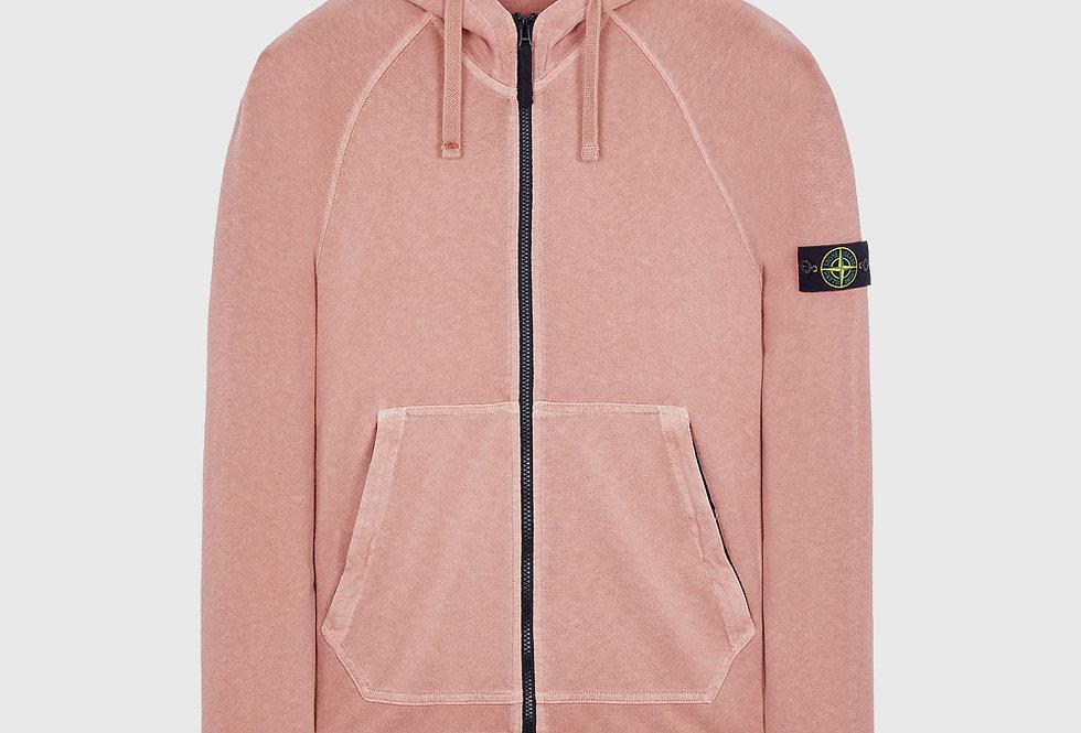 Stone Island 61560 T.CO+Old Full Zip Sweatshirt Pink Quartz