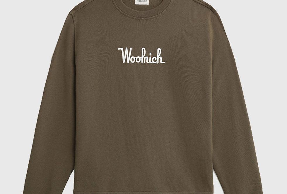 Woolrich Essential Crewneck Sweatshirt Army Green