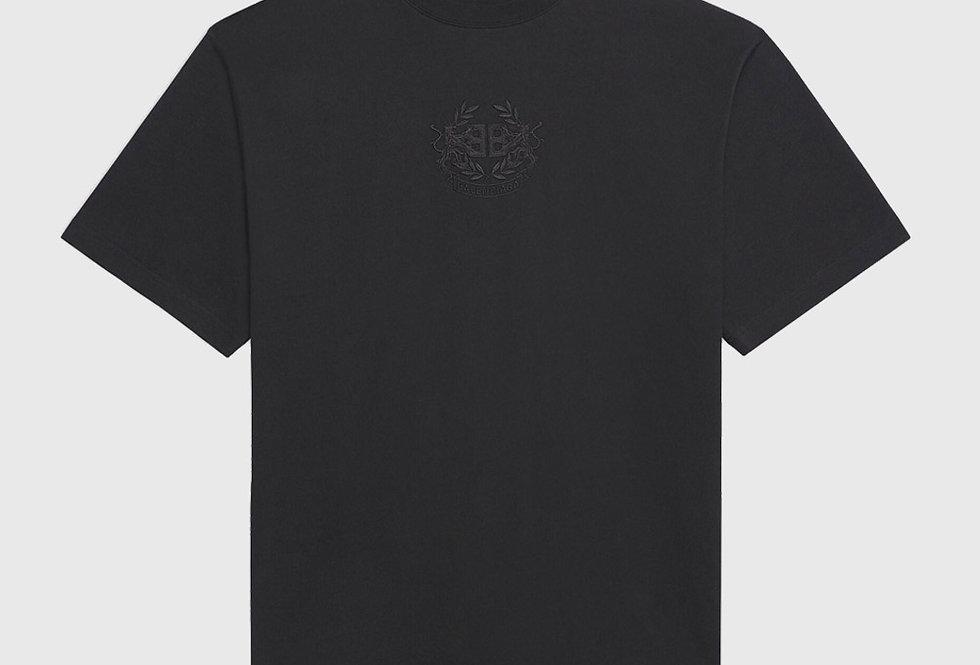 Balenciaga Lions's Laurel Large Fit T-shirt Black