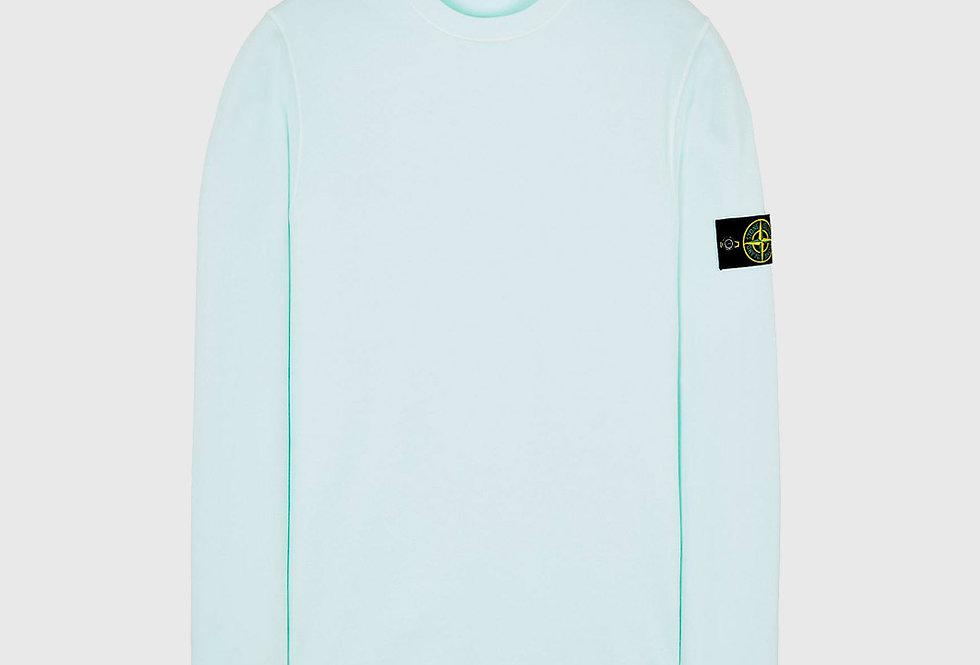 Stone Island 63020 Cotton Fleece Sweatshirt Light Green