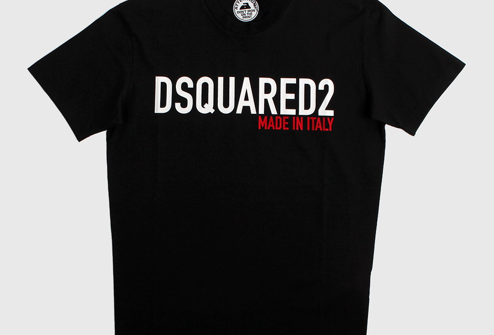 Dsquared2 T-shirt Made In Italy Black