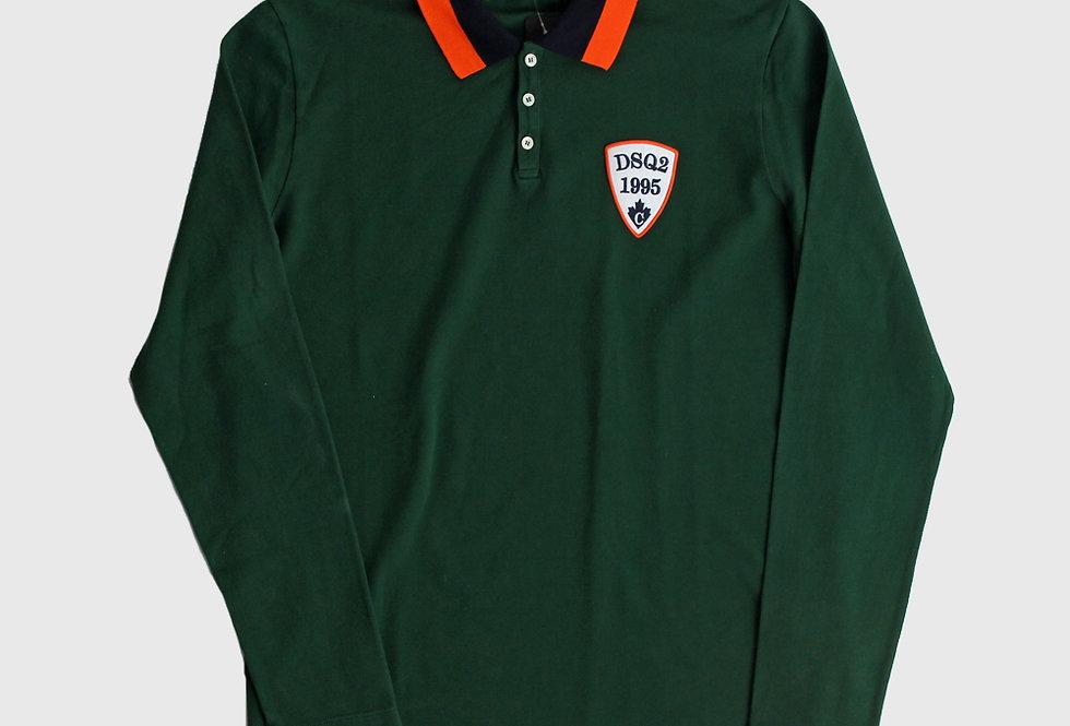 Dsquared2 Longsleeve Polo Shirt Green