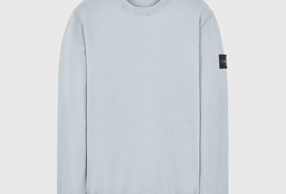 Stone Island 63020 Cotton Fleece Sweatshirt Pearl Grey