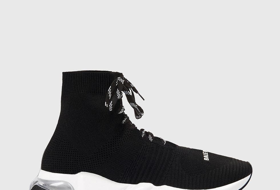 Balenciaga Speed Lace-Up Sneaker Black White