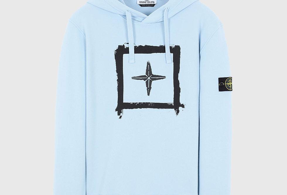 Stone Island 65894 Stencil Sweatshirt Sky Blue
