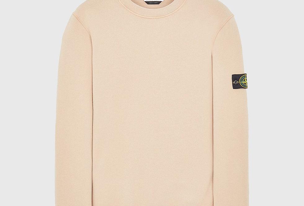 Stone Island 63020 Cotton Fleece Sweatshirt Pastel Pink