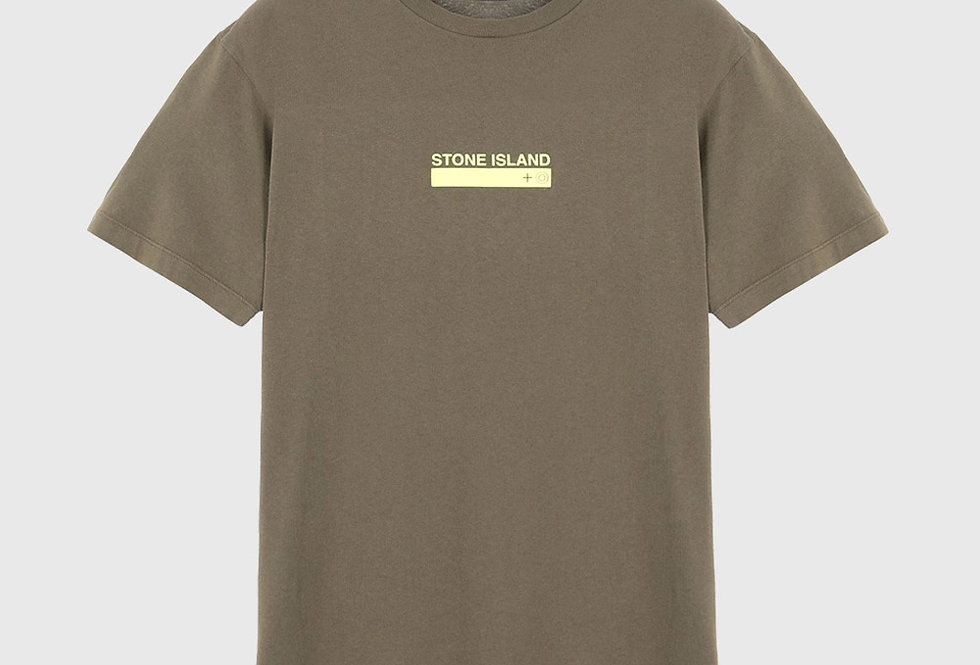 Stone Island 2NS55 Small Logo One Print T-shirt Olive Green