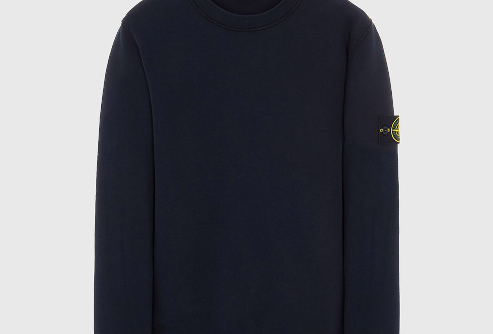 Stone Island 63020 Cotton Fleece Sweatshirt Blue