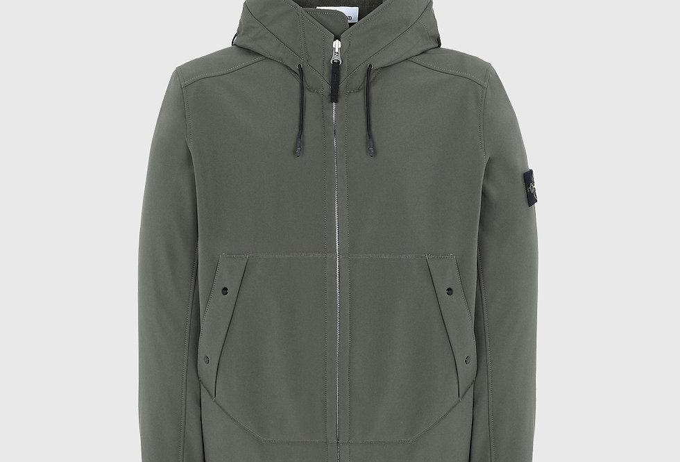 Stone Island Q0122 Soft Shell-R Lightweight Jacket Green