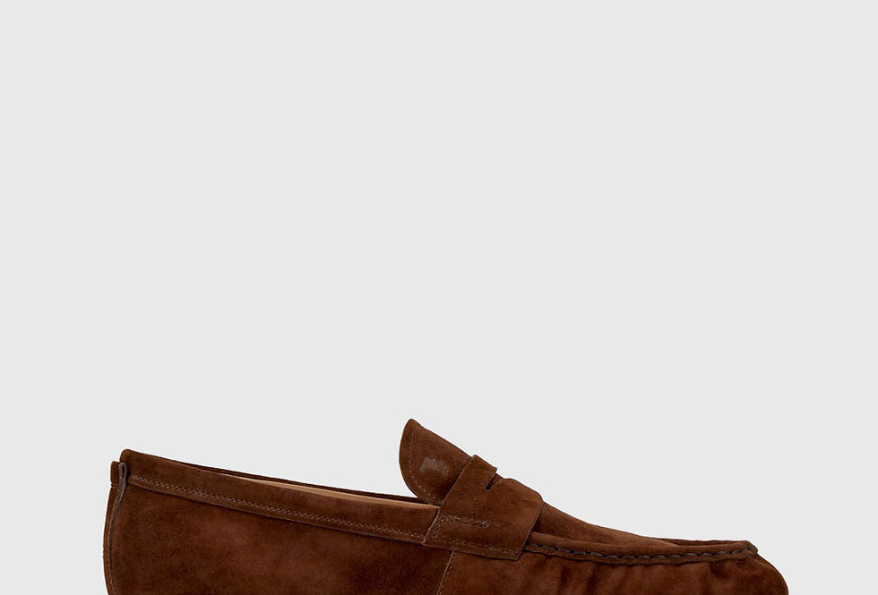 Tod's Loafers Suede Brown