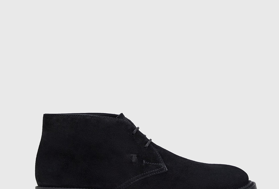 Tod's Desert Boots Suede Black