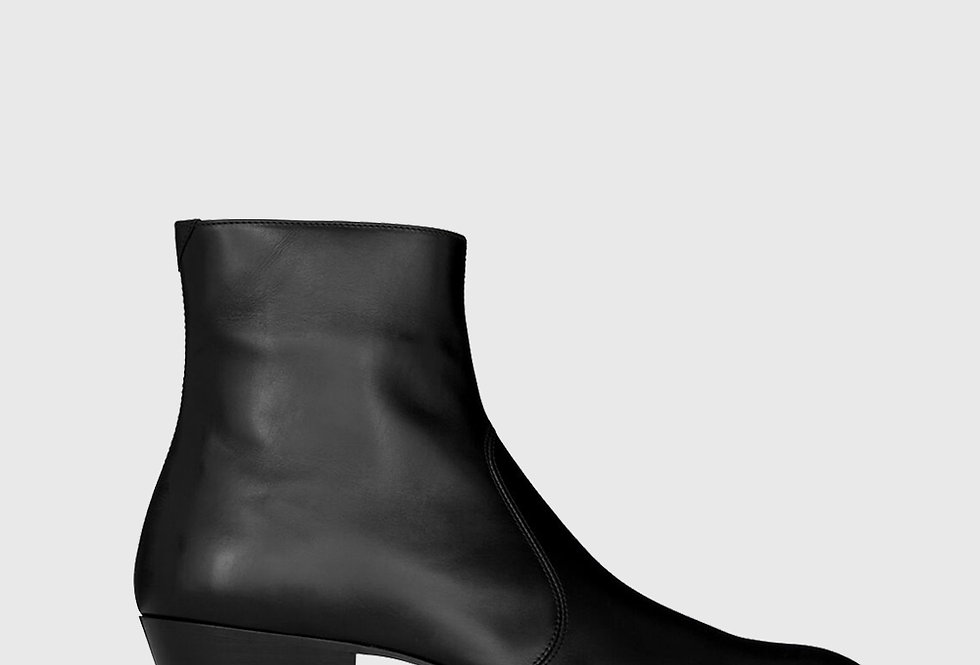 Saint Laurent Cole Zipped Leather Boots
