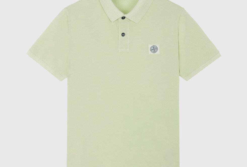 Stone Island 22S67 Pigment Dye Treatment Polo Shirt Light Green