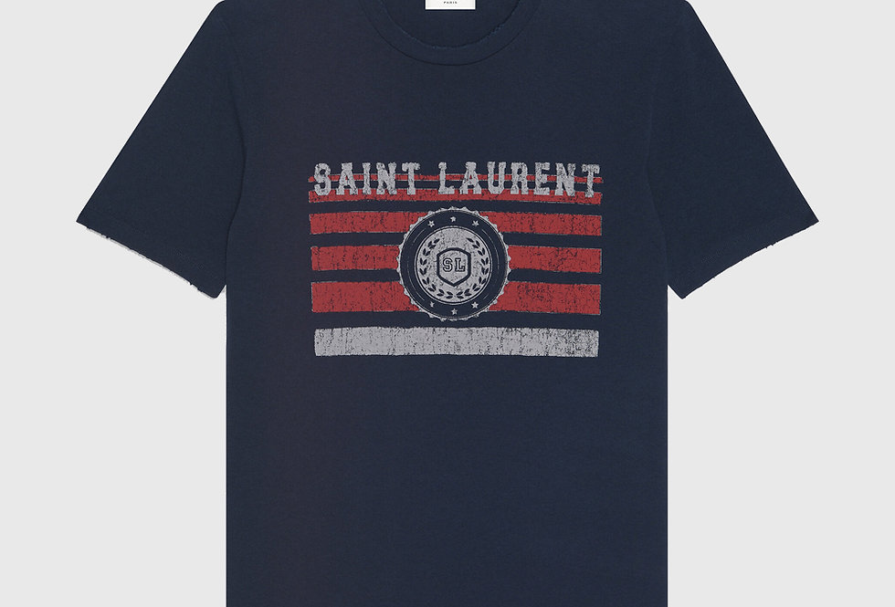 Saint Laurent League T-shirt Navy